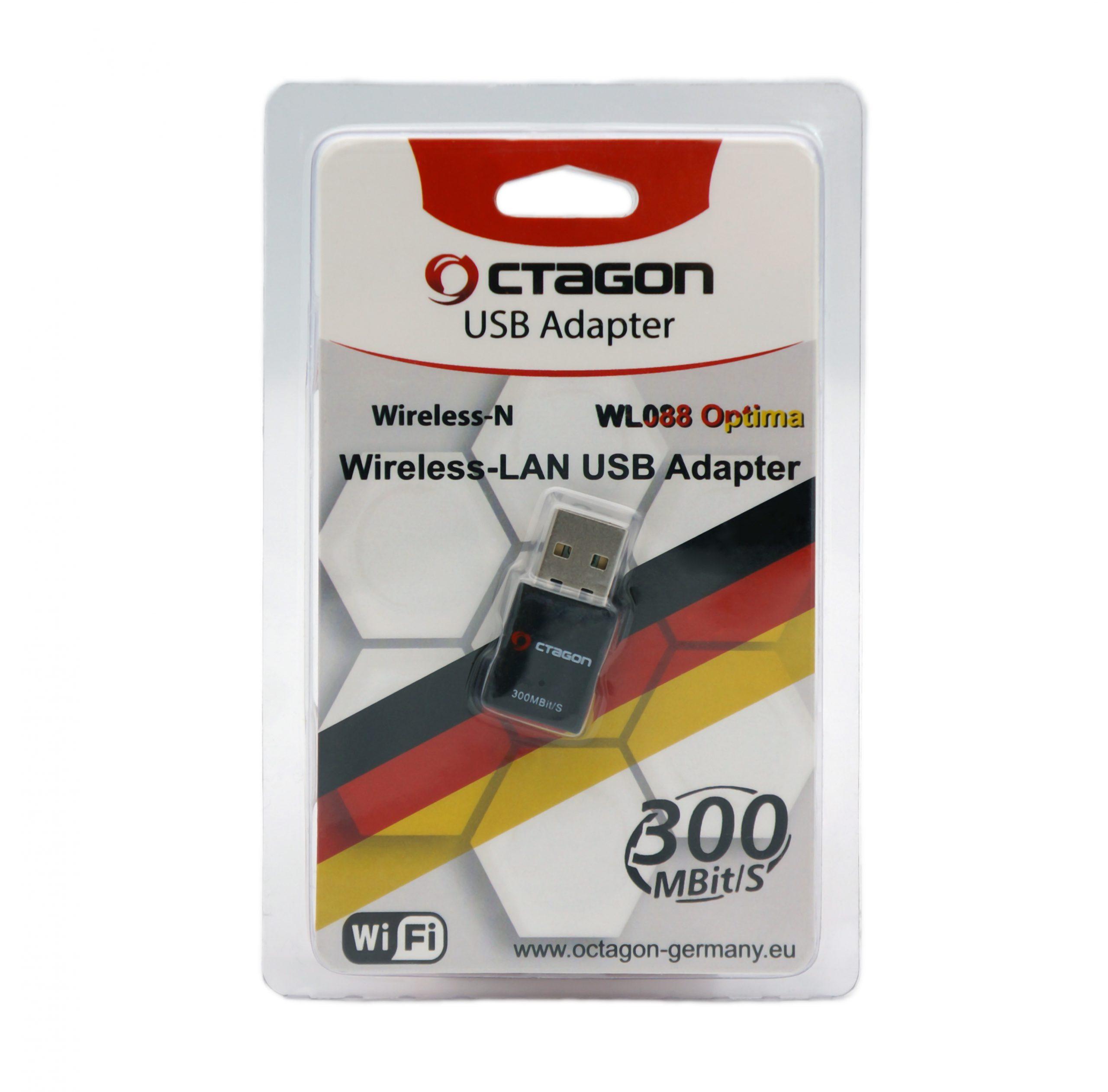 OCTAGON WL088 WLAN 300 Mbit/s USB 2.0 Adapter Blister (WiFi, Wireless)